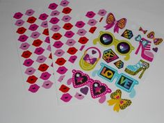 'Girly Icons' sticker sheets by Sticko
