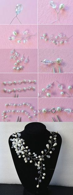 wire and beads necklace, like it? LC.Pandahall.com will publish the tutorial soon.