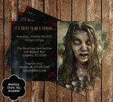 Walking Dead Zombie Birthday Party Invitation
