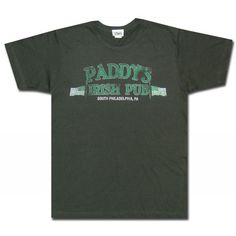 Paddy's Irish Pub Charcoal T Shirt. Get it for St. Patty's Day!
