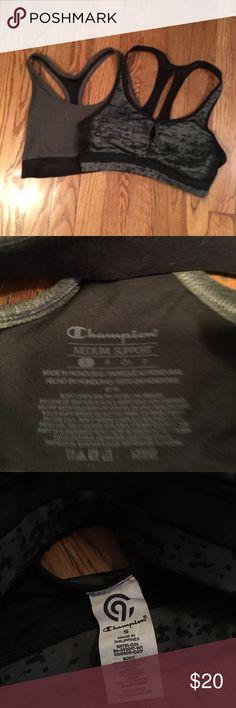687c620205a79 2 Small Champion Sports Bras size Small 2 barely used champion sports bras.  Both grey with black detailing Champion Intimates   Sleepwear Bras