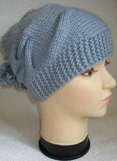 Интересная, модная шапочка (Вязание спицами) — Журнал Вдохновение Рукодельницы