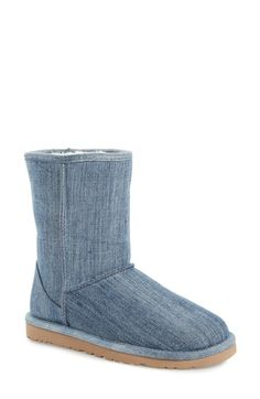 UGG® Australia 'Classic Short' Denim Boot (Women) available at #Nordstrom
