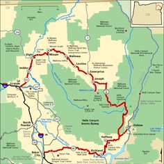 Hells Canyon Scenic Byway - Map | America's Byways