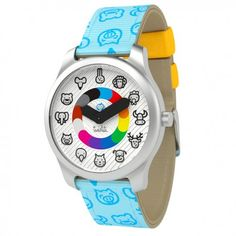 Meet the Twistiti watch. With simple symbols representing the hours and minutes, the Twistiti watch is specifically made for kids from 3 years old. It is water resistant, colorful, equipped with the best materials and comes with a beautiful packaging. Animal Original, Boutique, Watch Brands, Gifts For Boys, Cool Watches, Chronograph, Omega Watch, Smart Watch, Bracelet Patterns