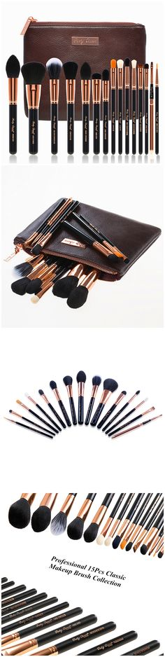15pcs Rose gold luxury set by Party Queen Beauty Brushes,You should own on these. Follow me, http://www.amazon.com/Signature-Synthetic-Bristles-Cosmetic-Versatile/dp/B01314L4OW/ref=sr_1_2?m=A1V4QSWUVXINHA&s=merchant-items&ie=UTF8&qid=1442882818&sr=1-2