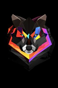 Justin Maller is a freelance illustrator, and I creates these lovely geometric illustrations of animals, full of colours and details