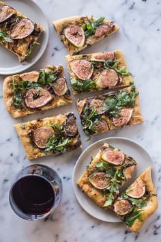 Fig & pizza lovers rejoice: http://www.stylemepretty.com/living/2015/07/24/three-cheese-fig-and-onion-pizza/ | Recipe: Healthy Nibbles & Bits - http://healthynibblesandbits.com/