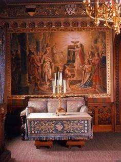 Neuschwanstein Castle Interior   LIVING SPACE: Inside the salon at Neuschwanstein Castle.