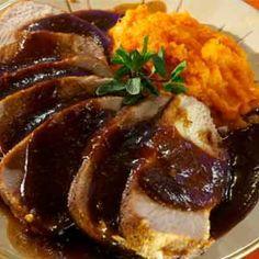 Lomo de cerdo en salsa de tamarindo.   El secreto del Chef