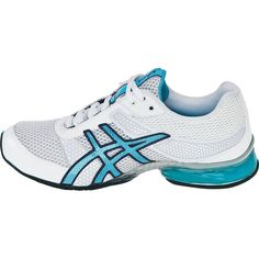 asics volleyball shoes for women | Asics GEL-Plexus Women's Training Shoes - White/Maui Blue/Silver