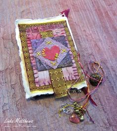 Fragments: Follow Your Heart Fabric Art, Fabric Books, Creative Textiles, Fabric Journals, Handmade Tags, Vintage Fabrics, Fabric Scraps, Textile Art, Fiber Art