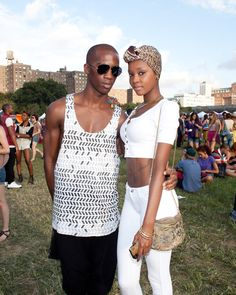 Love white and head wraps.