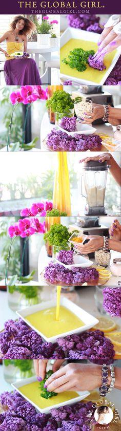 The Global Girl Raw Food Recipes: Antioxidant Rich Turmeric Dip with Purple…
