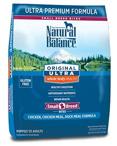 Natural Balance Small Breed Bites Original Ultra Whole Body Health Chicken, Chicken Meal, Duck Meal Formula Dry Dog Food, 12-Pound -- Click image for more details.