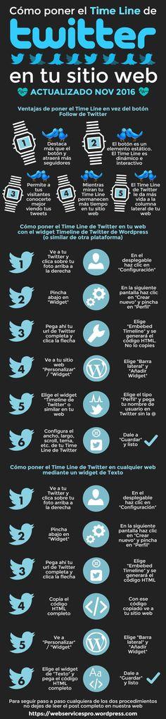 Te enseñamos en este tutorial cómo instalar el #Timeline de #Twitter en tu sitio web o blog paso a paso de dos maneras posibles. Y te damos buenas razones para que no dejes de hacerlo #SocialMedia #Infografia