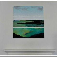 Easy DIY Abstract Landscape {diy art}