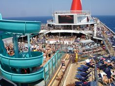 Pool Deck of the Carnival Valor. Had so much fun!