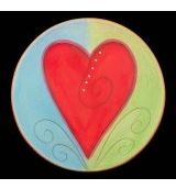 Round Heart Plate
