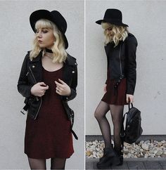 More looks by Emilia Frelichowska: http://lb.nu/nastyrose  #edgy #grunge