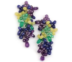 Cristina Amador aretes earrings multicolor