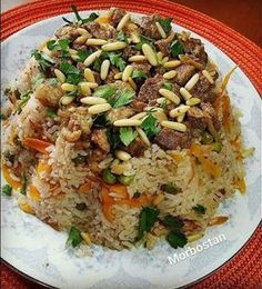 ARAP PİLAVI - MORBOSTAN Rice Dishes, Main Dishes, Meat Recipes, Dinner Recipes, Turkish Recipes, Ethnic Recipes, Turkish Kitchen, Fat Foods, Iftar