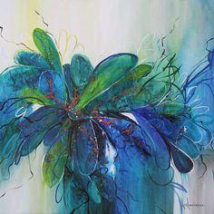Les oeuvres de ... Luce Lamoureux - Galerie d'art Richelieu Galerie D'art, Acrylic Colors, Les Oeuvres, Paintings, Floral, Flowers, Inspiration, Brogue Shoe, How To Paint