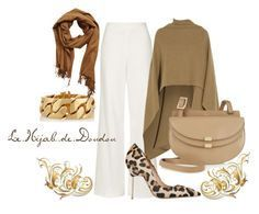 Brown and White Hijab Outfit http://lehijabdedoudou.wordpress.com