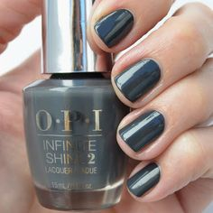 OPI Infinite Shine Strong Coal-ition. Dark gray nail polish perfect for fall and winter. @gopolished