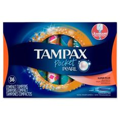 Tampax Pocket Pearl Unscented Super Plus Plastic Tampons Always Pads, Cute Sleepwear, Feminine Hygiene, Ncis, Household Items, Volleyball, Counting, Packaging Design, Beauty Products