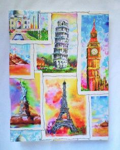 Large Handbound Art Journal Destination The World on Handmade Artists' Shop -