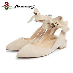 Anvenus Women Fashion Flock Kid Suede Mules Lady Sexy Ankle Strap Pointed Toe Flats Summer Shoes Party Casual Daily Brand Design Aliexpress 67.00