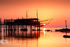 The Sun in the Net by antonio_violi  Yellow Abruzzo Adriatic Sea Costa dei Trabocchi Europe Fish Restaurant Fossacesia Italy Landscape Me