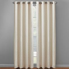 """One of my favorite discoveries at ChristmasTreeShops.com: 84"""" White Caitlin Geo Grommet Window Curtains, Set of 2"""