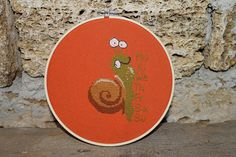 PDF Cross Stitch Pattern Crazy Snail funny pattern  INSTANT