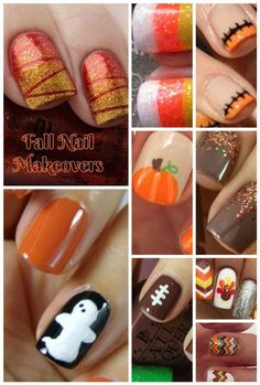 Fall Nail Makeover Ideas for Teens Fall madly in love (pun totally intended!) with these spectacular fall nail makeover ideas for teens! Perfect for Halloween, Thanksgiving and just because! Fancy Nails, Cute Nails, Pretty Nails, My Nails, Neon Nails, Halloween Nail Designs, Fall Nail Designs, Halloween Nails, Fall Pedicure Designs