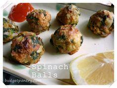 Airfried Spinach Cheese Balls