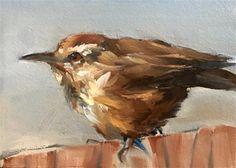 "Daily Paintworks - ""Cactus Wren"" - Original Fine Art for Sale - © Gary Bruton"
