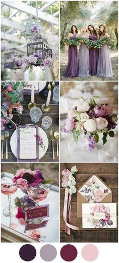 top-wedding-colours-2016-purple-berry-color-palette