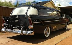1959 Chrysler Royal hearse, the body is a '59 the front is a '60 and the rear is a '57 made by Weber coach builders.