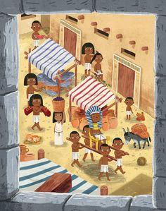 Illustrations for an educational children's book about ancient Egypt Kids Reading Books, Kids Story Books, Travel Illustration, Children's Book Illustration, Apple Watch Wallpaper, Children's Picture Books, Urban Sketching, Illustrator Tutorials, Freelance Illustrator