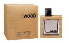 Wood by Dsquared. The wood is represented in the fragrance as well as in packaging design, where the wooden block protects the inner glass bottle. Delivered in an outer paper box, with a natural and simple look.