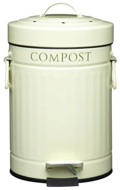 Kitchen Craft Compost Pedal Bin with Charcoal Filter 3 Litres Best Compost Bin, Kitchen Compost Bin, Kitchen Waste, Recycled Kitchen, Kitchen Craft, Kitchen Ideas, Composting At Home, Must Have Kitchen Gadgets, Charcoal Filter