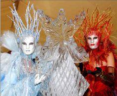 Christmas Costumes, Halloween Costumes, Halloween Ideas, Ice Mask, Ice Queen Costume, Venetian Masquerade, Fire Art, Ice Princess, Beautiful Mask