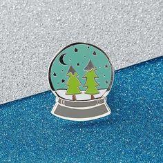 Snowglobe Enamel Pin   Punky Pins – punkypins