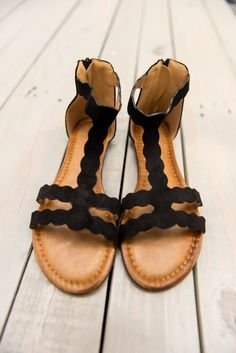 These faux suede sandals are off the charts! They are fabulous! We love the T strap shape and all of those curves are so trendy! They are fab go to for spring and summer!