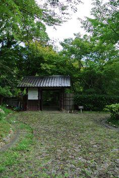Gate house in Japanese garden, Hamamatsu, Japan