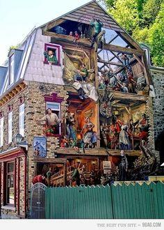 street art by Leo & Pipo bull graffiti Street Art. 000 AMAZING graffiti awesome on Design You Trust 3d Street Art, Amazing Street Art, Street Art Graffiti, Awesome Art, Street Mural, Amazing Artwork, It's Amazing, Banksy, Urbane Kunst