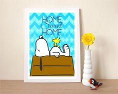Confira aqui - Poster Snoopy  - Home Sweet Home - Frete Grátis - Hey You