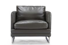 Baxton StudioDakota Pewter Gray Leather Modern Chair | Wholesale Interiors